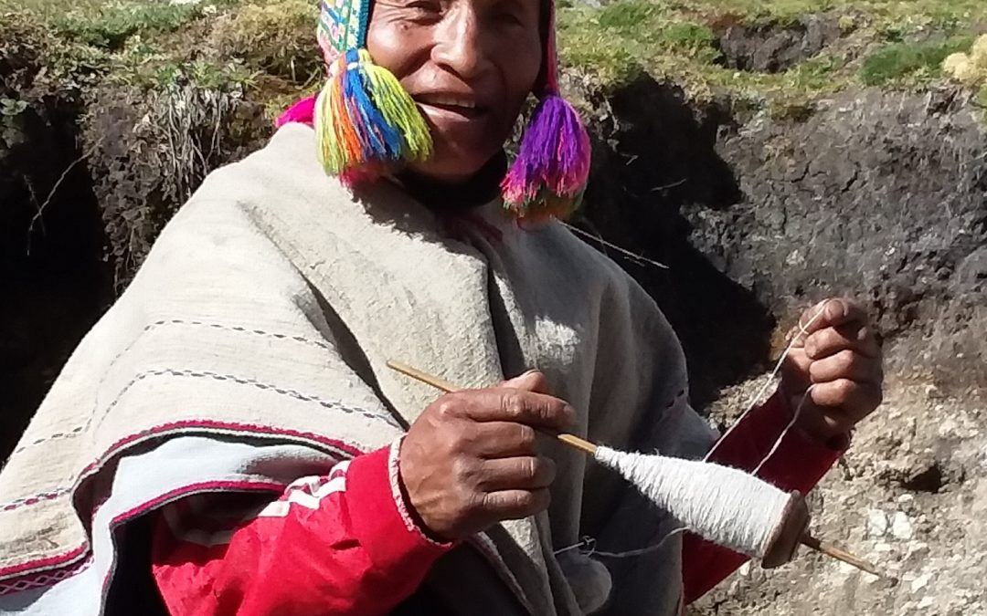 Creating yarns for weaving takes many weeks