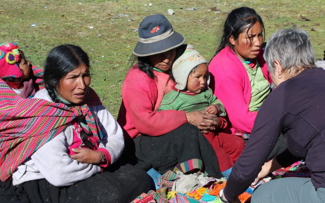 Buying textiles provides income for Q'ero families