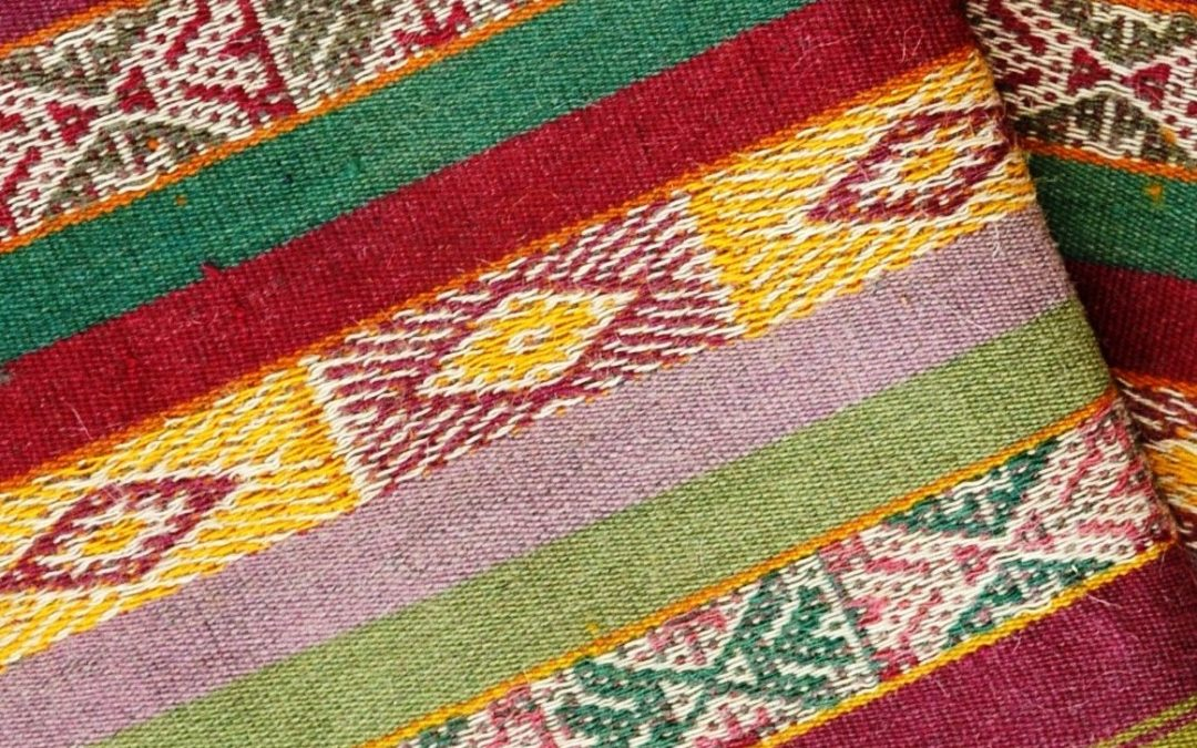 Andean textiles are a form of a symbolic language that tells the story of the people's