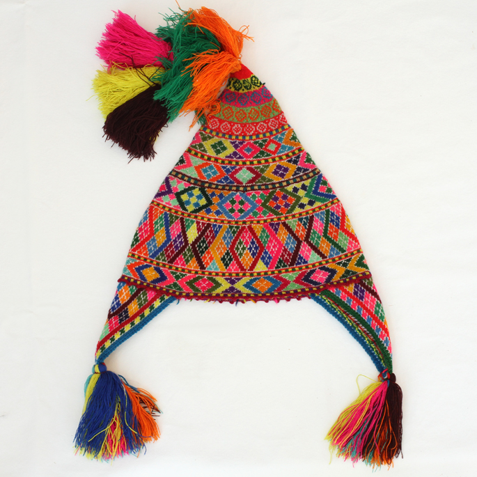 Colorful Knit Chullyo Hat