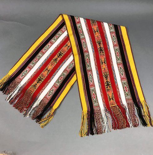 peru woven scarves